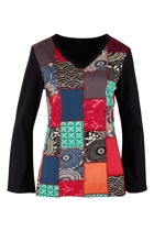 Sen Patchwork Cotton Top