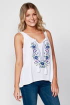Maple embroidery tank1 small2