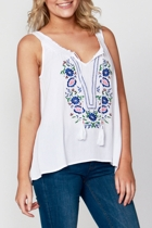 Maple embroidery tank2 small2