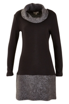 Contrast Roll Neck Tunic