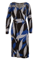 Belle Abstract Wrap Dress