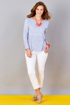 Buttoned Cuff Swing Tee
