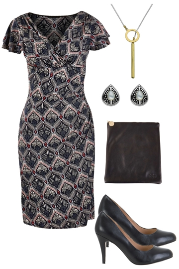 Design with rebecca ruby knee length dress and siren heel brand image