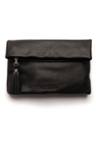 Stitch hide lily clutch black front small2