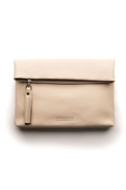 Stitch hide lily clutch ivory front small2