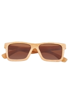 Square Bond Wood Sunglasses