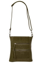 Genuine Suede Crossbody Bag
