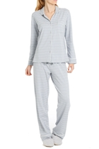 Cosy stripe pj grey front small2