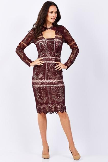 Cooper St The Last Hurrah Long Sleeve Dress - Womens Knee Length ...