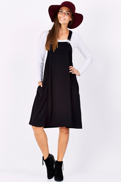 Brave Amp True Saffle Pinafore Dress Womens Knee Length