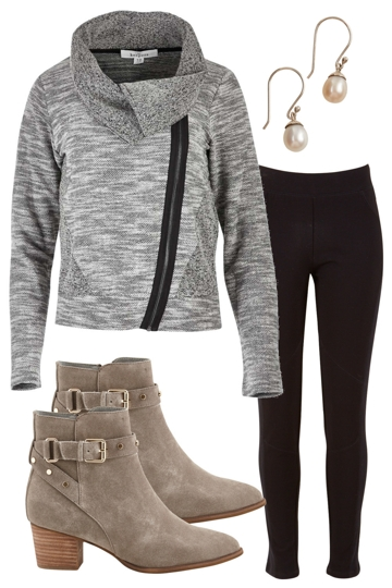 office trend outfit includes boo radley bird by design and office trend boo radley pant and bird keepers by design jacket brand image