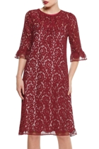 Cipolla dress b length burgundy lace  hero1 small2