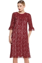 Cipolla dress b length burgundy lace  hero2 small2