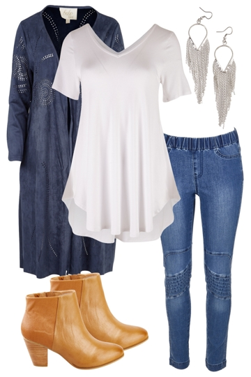 Free spirit with boho bird jacket and boho bird skinny jeans brand image