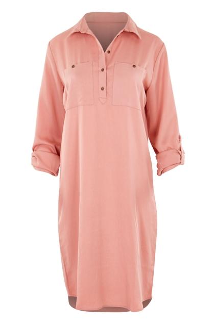 Blushing Shirt Dress