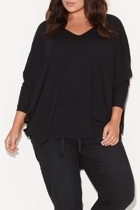 Bs1643 black split sleeve circle top full length small2