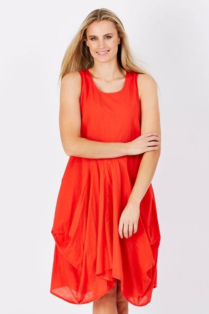 Scarlet Knee Length Dress