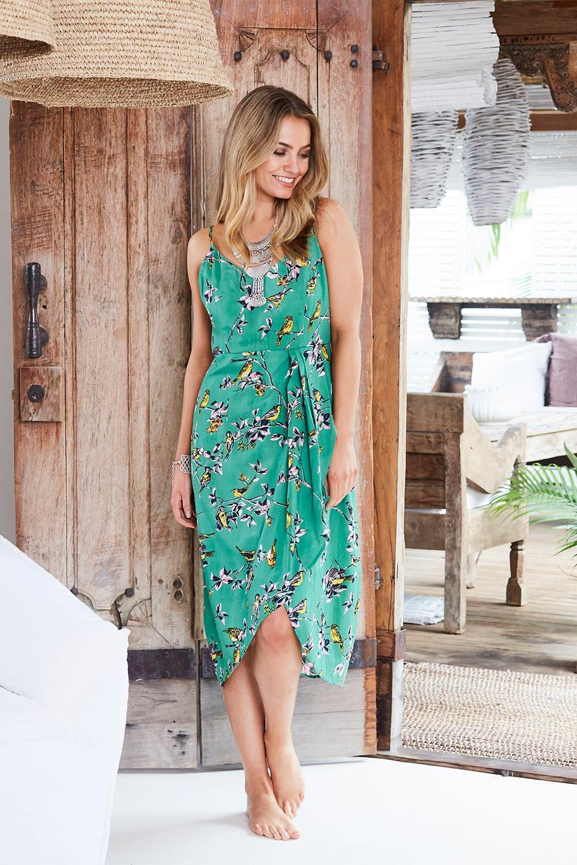 boho bird In Wonderland Dress - Womens Calf Length Dresses ...