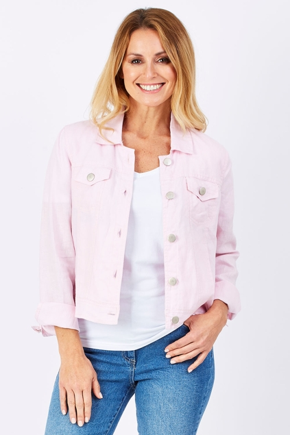 Gordon Smith clothing Pink Linen Jacket - Womens Jackets ...