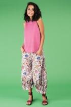 Lalartop red gingham guru pants lilac small2