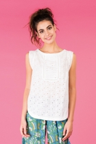 Tipte top white jada shorts green small2