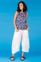 Hawaii top blue guru pants white small2