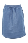 The Drawstring Chambray Skirt