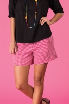 Bliss top black leeti shorts red gingham small2