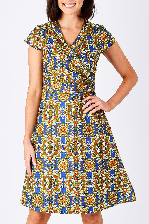 1960s Dresses: New 60s Style Dresses – Jackie O to Mod Astrid Cotton Wrap Dress AUD 95.95 AT vintagedancer.com