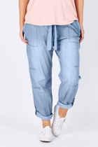 The chambray waist tie pant2 small2