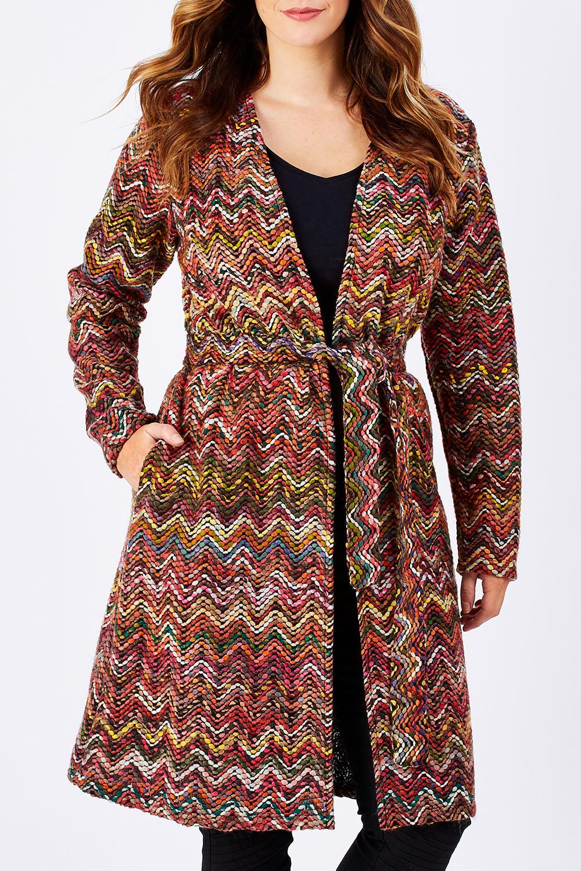Vintage Dresses Australia- 20s, 30s, 40s, 50s, 60s, 70s Belle Zig Zag Coatigan AUD 50.00 AT vintagedancer.com
