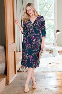 Belle Orchid Print Wrap Dress