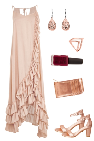 Rose Gold Ruffles