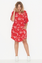 Ss1731 floral shirred waist dress front small2