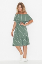 Ss1714 off the shoulder frill dress side small2
