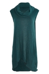 Wool Skivvy Neck Rib Tunic
