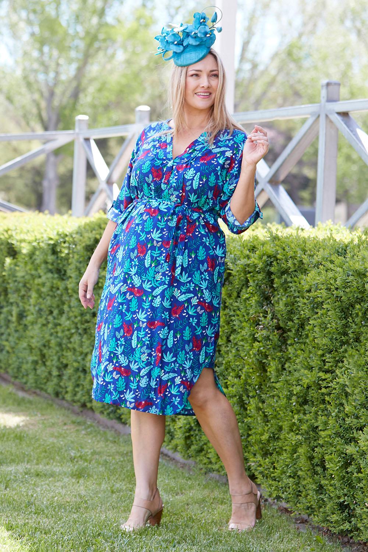 958a5fbe69699 that bird label Edwina Midi Dress Jungle Fever - Womens Knee Length Dresses  at Birdsnest