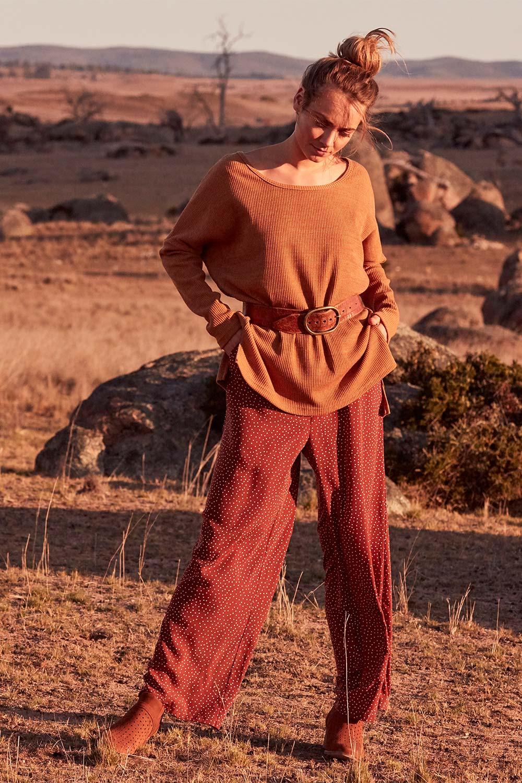 60s – 70s Pants, Jeans, Hippie, Bell Bottoms, Jumpsuits Spotty About You Wide Leg Pants AUD 109.95 AT vintagedancer.com