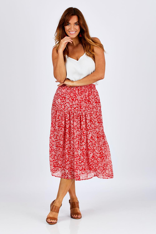 aed74b99f3 Fate + Becker Positano Elastic Waist Skirt - Womens Long Skirts - Birdsnest  Online Shop