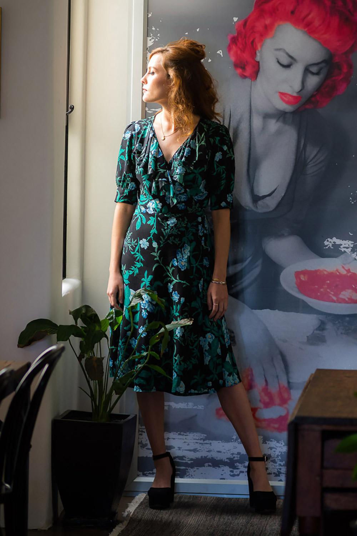Vintage Dresses Australia- 20s, 30s, 40s, 50s, 60s, 70s Miranda Dress AUD 125.00 AT vintagedancer.com