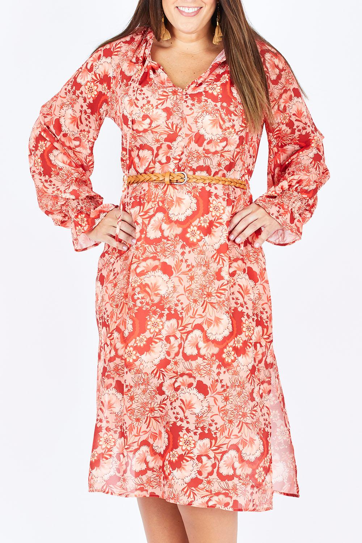 Vintage Dresses Australia- 20s, 30s, 40s, 50s, 60s, 70s Retro Floral Midi Dress AUD 119.00 AT vintagedancer.com