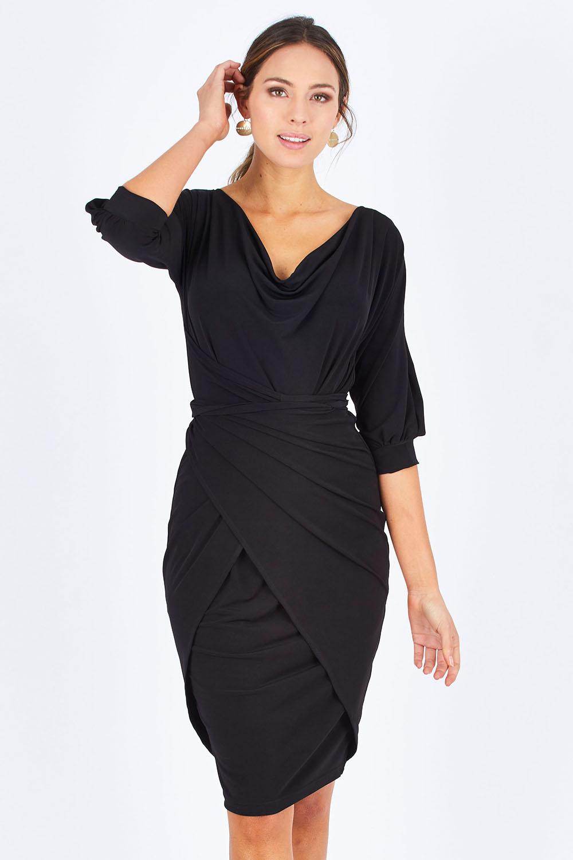 83ccb0d84baf Sacha Drake Cowl Tie Drape Dress - Womens Knee Length Dresses - Birdsnest  Online Clothing Store