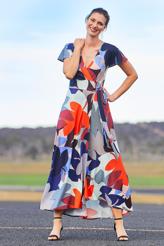 Vintage Dresses Australia- 20s, 30s, 40s, 50s, 60s, 70s Glory Days Wrap Dress AUD 299.00 AT vintagedancer.com