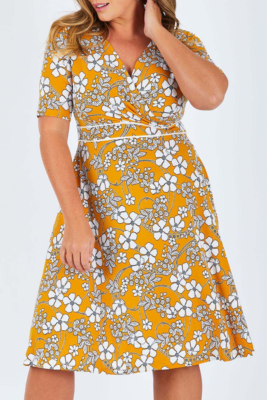 Vintage Dresses Australia- 20s, 30s, 40s, 50s, 60s, 70s Faux Jersey Wrap Dress AUD 129.95 AT vintagedancer.com