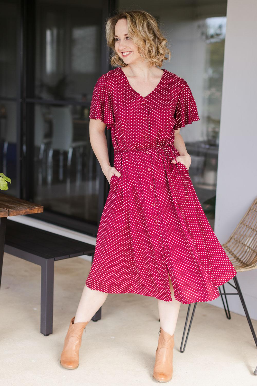 Vintage Polka Dot Dresses – 50s Spotty and Ditsy Prints Dixie Dress AUD 179.95 AT vintagedancer.com